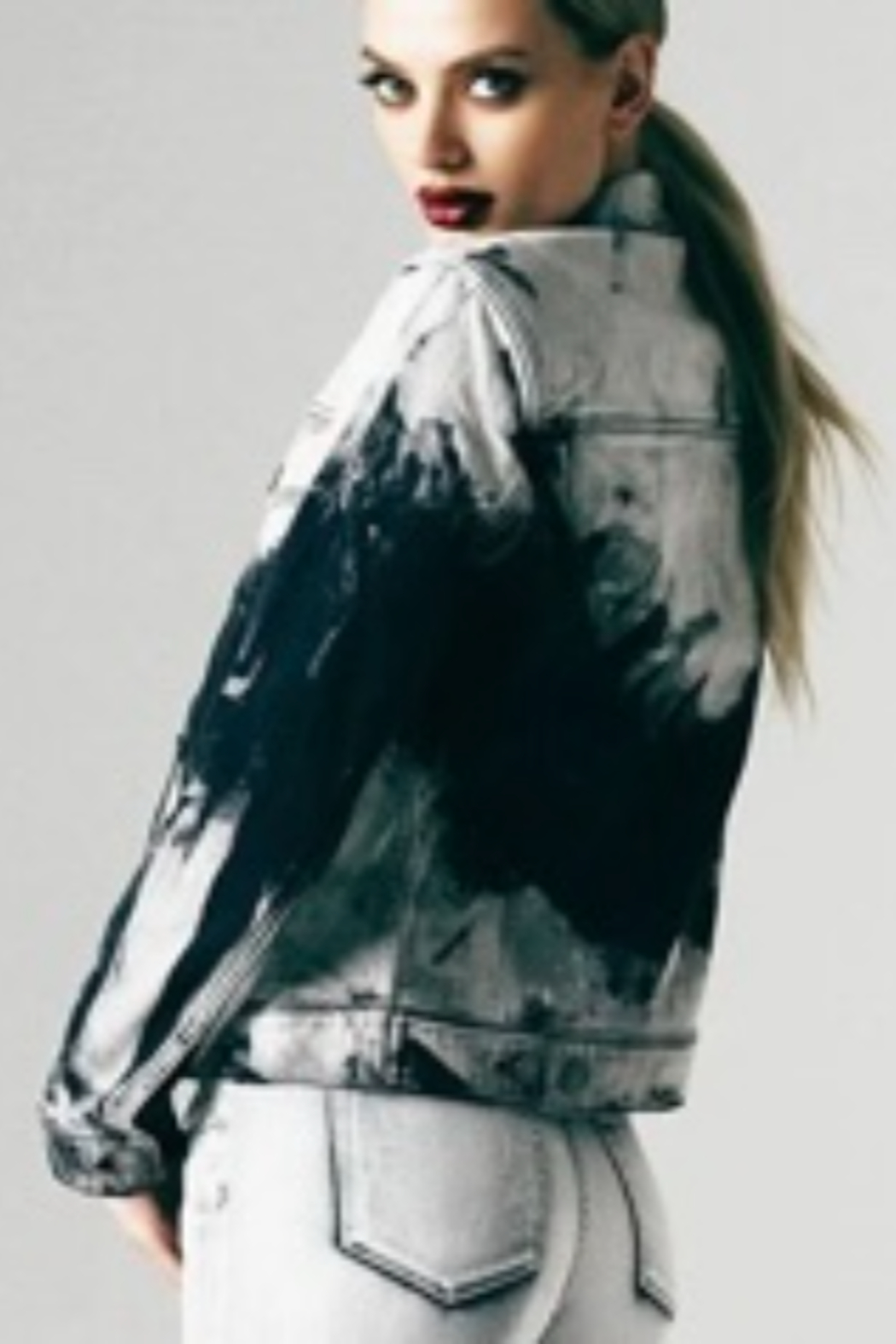 Articles of Society Tie Dye Denim Jacket - Front Full Image