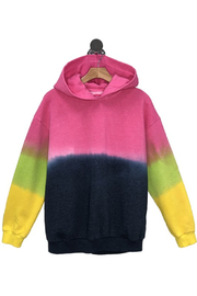 Cest Toi Tie Dye Diped Hoodie - Front cropped