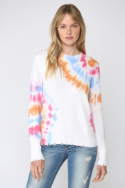 Fate Inc. Tie Dye Distressed Crew Neck Sweater - Product Mini Image