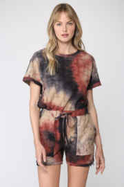 Fate  Tie Dye Distressed Romper - Product Mini Image