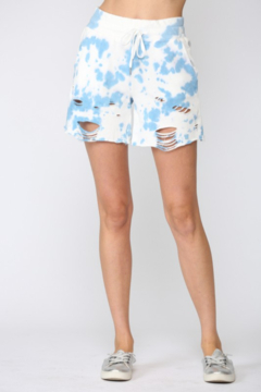 Fate Inc. Tie Dye Distressed Shorts - Product List Image
