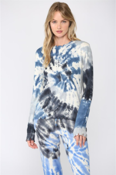 Shoptiques Product: Tie Dye Distressed Sweater