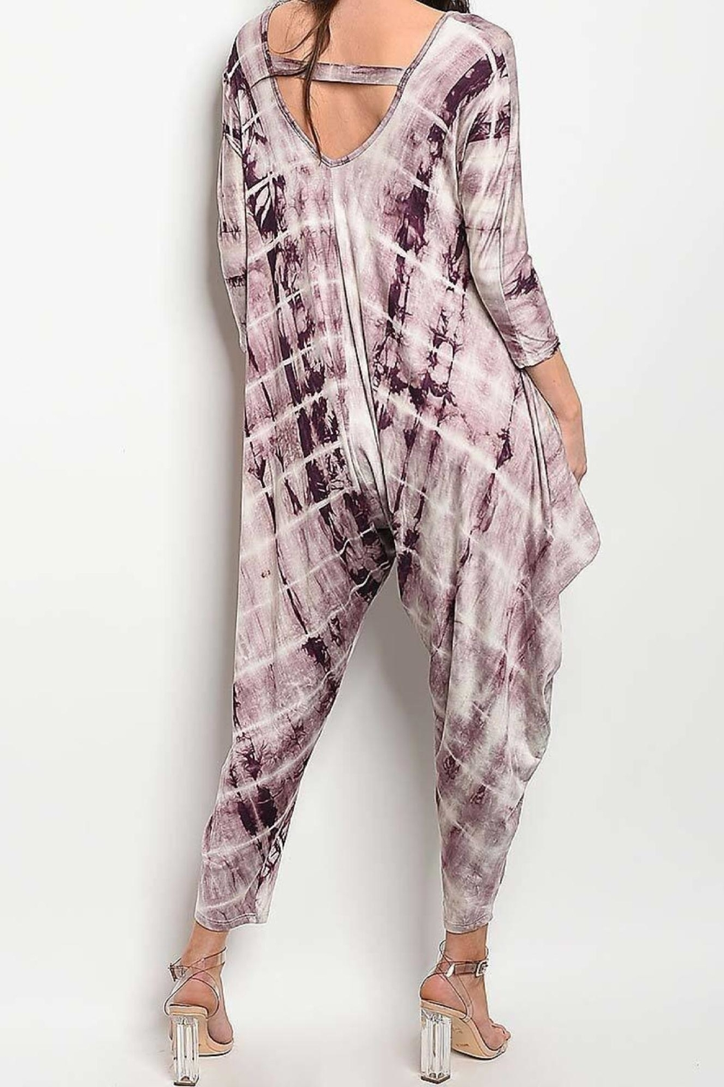 Degree Tie-Dye Drape Jumpsuit - Front Full Image