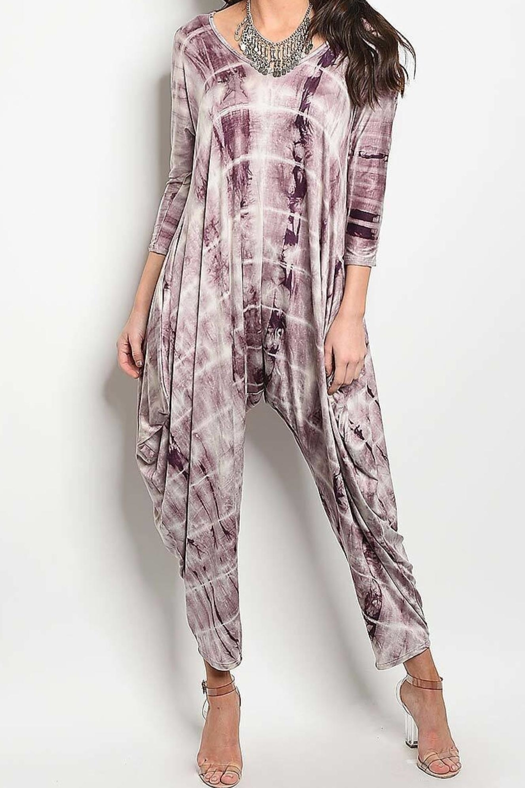 Degree Tie-Dye Drape Jumpsuit - Main Image