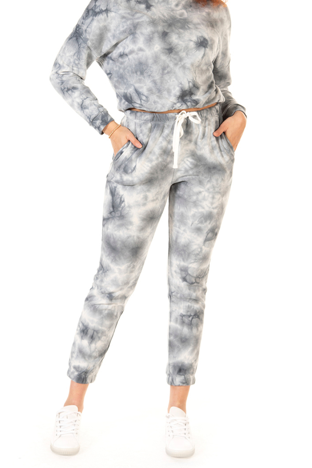 Dex Tie Dye Drawstring Jogger - Front Cropped Image