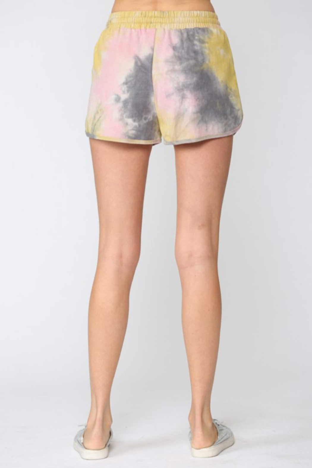 Fate Tie Dye Drawstring Shorts - Front Full Image