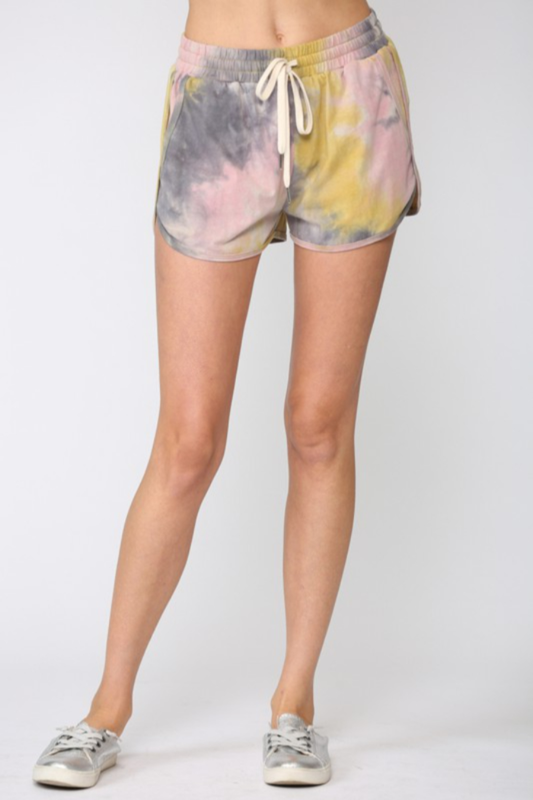 Fate Tie Dye Drawstring Shorts - Front Cropped Image