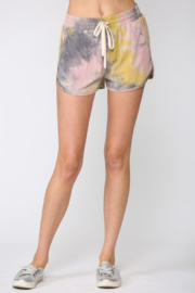 Fate Tie Dye Drawstring Shorts - Front cropped
