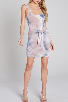 blue blush Tie-Dye Dress - Product List Image