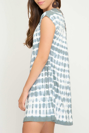 She + Sky Tie Dye Dress w Back Strap Detail - Side cropped