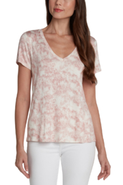 Matty M Tie Dye Easy V Neck Tee - Front cropped
