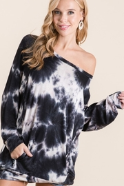 Bibi Tie Dye French Terry Hoodie with Side Pockets - Product Mini Image