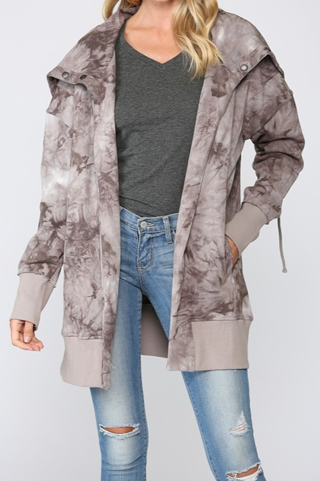 Fate Tie Dye French Terry Jacket - Main Image