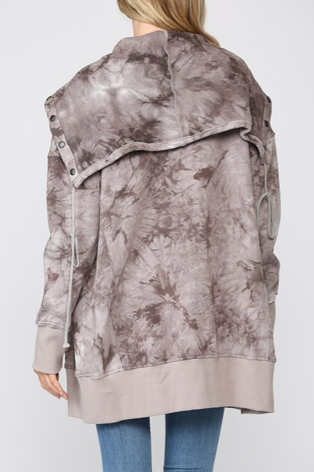 Fate Tie Dye French Terry Jacket - Front Full Image