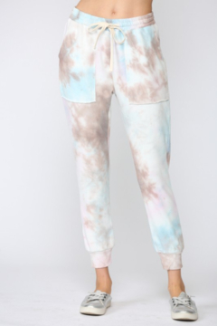 Shoptiques Product: Tie Dye French Terry Jogger Pants