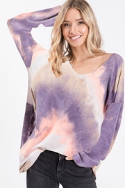 Bibi TIE DYE FRENCH TERRY KNIT TOP - Product Mini Image