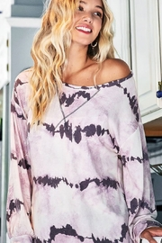 Bibi Tie Dye French Terry Pull Over - Product Mini Image