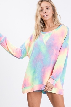 Bibi Tie Dye French Terry Pull Over Shirt - Alternate List Image
