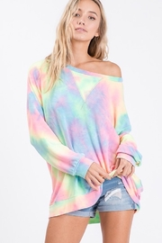 Bibi Tie Dye French Terry Pull Over Shirt - Front cropped