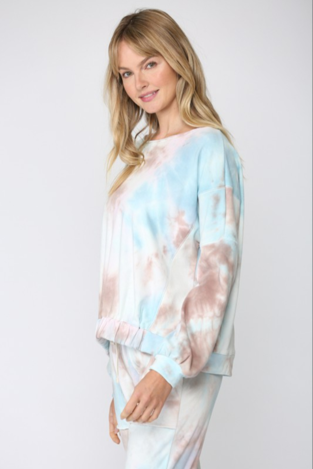 Fate Inc. Tie Dye French Terry Sweatshirt - Front Full Image