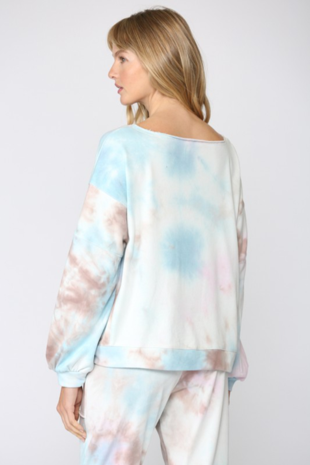 Fate Inc. Tie Dye French Terry Sweatshirt - Side Cropped Image