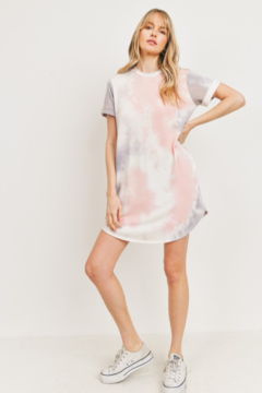 Shoptiques Product: Tie Dye French Terry T Shirt Dress w Pockets