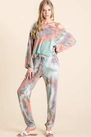 Bibi Tie Dye French Terry Top and Bottom Set - Product Mini Image