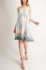 easel Tie-Dye Fringe Dress - Product Mini Image