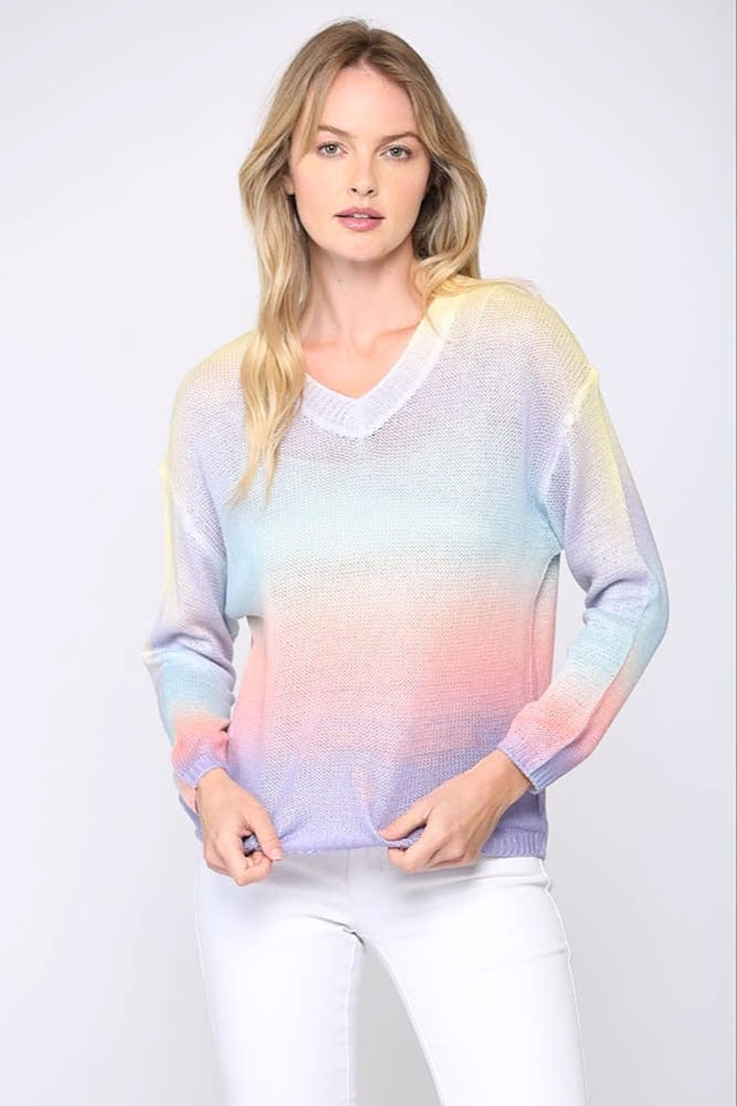 Fate  Tie-Dye Gradient Sweater - Main Image
