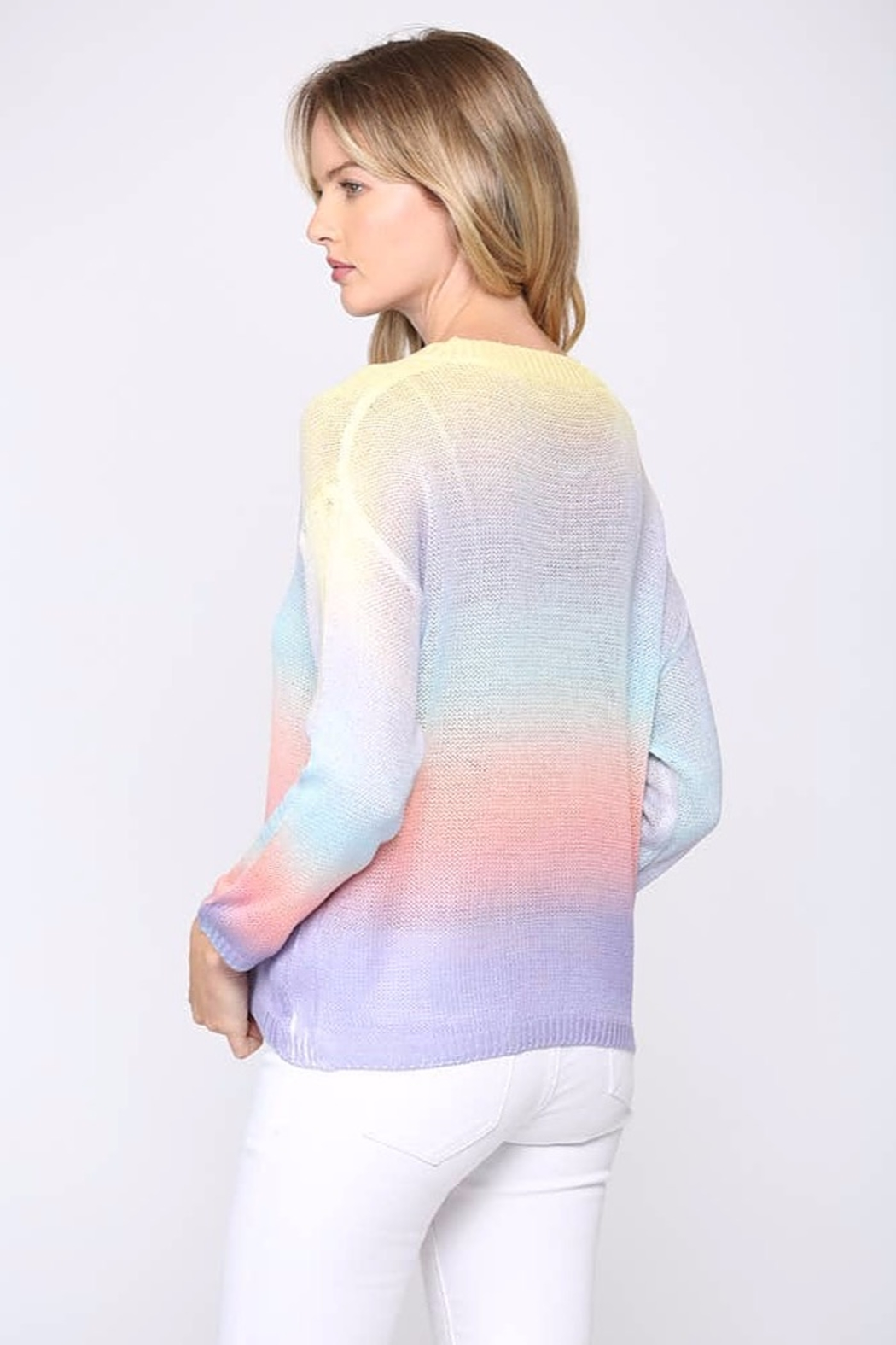 Fate  Tie-Dye Gradient Sweater - Side Cropped Image