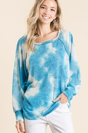 Bibi Tie Dye Hacci Top - Front full body