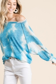 Bibi Tie Dye Hacci Top - Back cropped