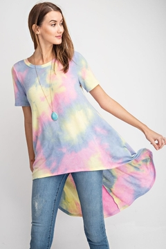 RAE MODE Tie Dye High Low Top - Product List Image