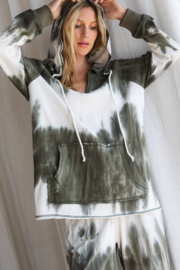 Bibi Tie Dye Hooded Jogger Set - Front full body