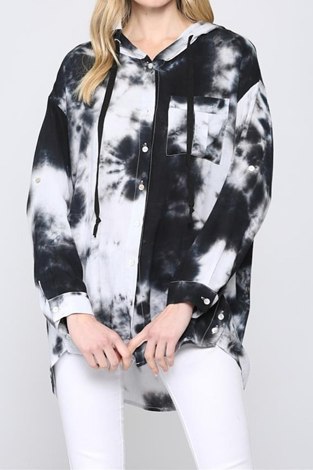 FATE by LFD Tie dye hooded shirt - Main Image