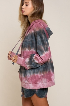 Pol Clothing Tie Dye Hooded Sweatshirt - Product List Image