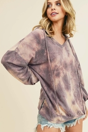 First Love Tie Dye Hooded Top - Front cropped
