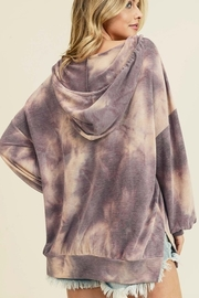 First Love Tie Dye Hooded Top - Front full body