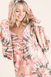 Bibi Tie Dye Hoodie with Twill Tape Drawstring - Product Mini Image
