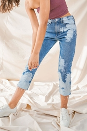 just black Tie-Dye Jeans - Product Mini Image