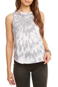 Shoptiques Product: Tie Dye Jersey Cropped Muscle Tank