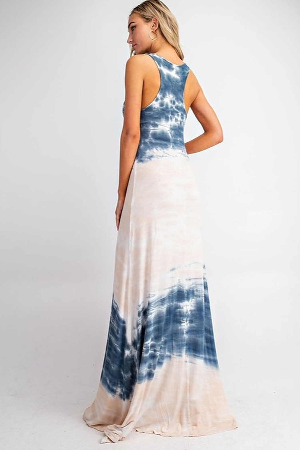 143 Story Tie Dye Jersey Maxi Dress - Side Cropped Image