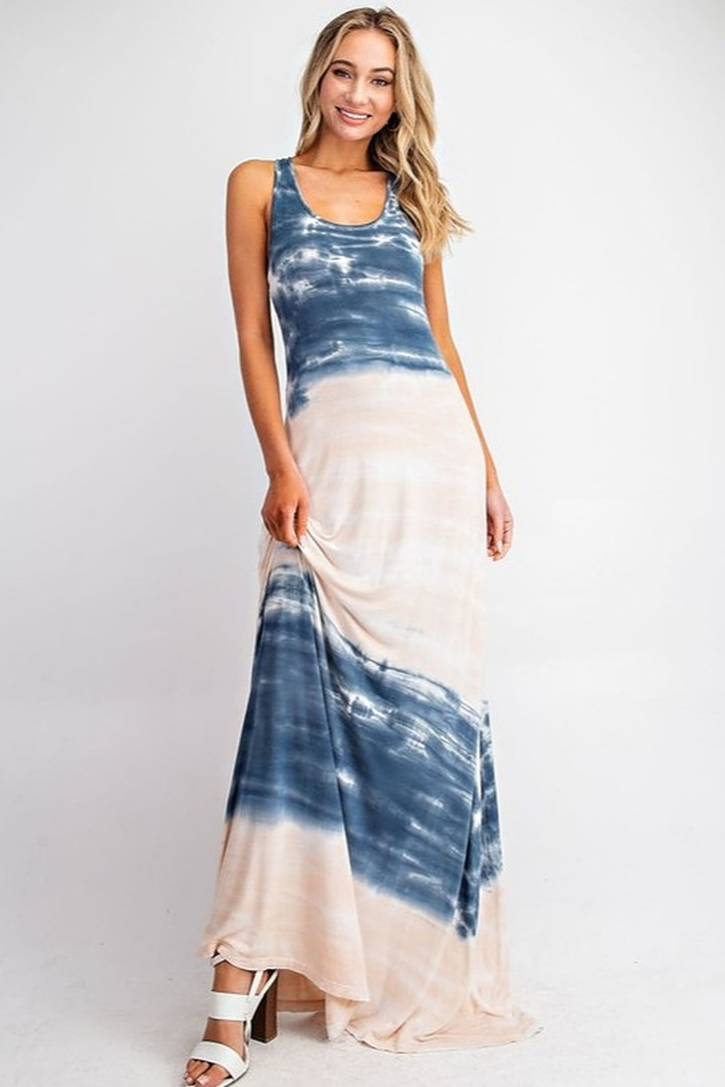 143 Story Tie Dye Jersey Maxi Dress - Main Image