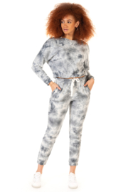 Dex Tie Dye Jogger & Pullover Set - Front cropped