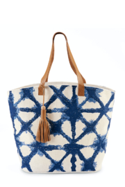 Mud Pie  Tie Dye Jute Tote - Product Mini Image