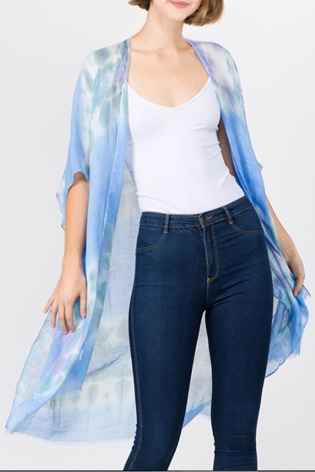 L.I.B. New York Tie-Dye Kimono/Cover Up - Main Image