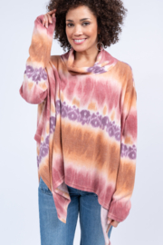 Ivy Jane Tie Dye Knit Poncho - Product Mini Image