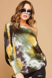 Fantastic Fawn Tie Dye Knit Top - Product Mini Image