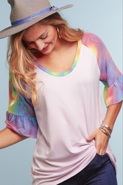 Haptics Tie Dye Knit Top - Product Mini Image