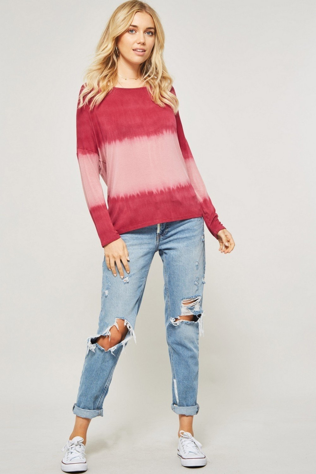 Promesa  tie-dye knit top - Front Cropped Image